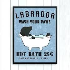 vintage bath signs bathroom signs decor retriever wall art print black lab dog bathroom wall decor