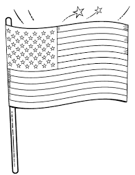 Small Picture Free American Flag Coloring Page