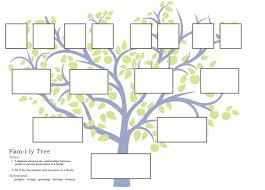 Family Tree Worksheet Family Center Online