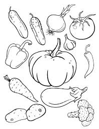Small Picture Printable vegetables coloring page Free PDF download at http