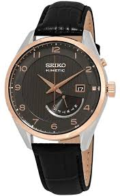 seiko seiko kinetic automatic brown dial brown leather mens watch srn070p1 image 0