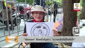 Wake Up Thailand - ยุคอยู่ยาก Voice TV ถ่ายทอดสด 'ไทยภักดี' แจ้งความเอาผิด  'เครือข่ายนนท์' นัดปกป้อง - YouTube