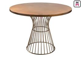 commercial metal table bases for wood tops round dining table metal base