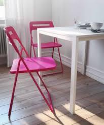 nisse folding chair black