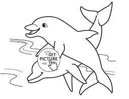Small Picture Pages Dolphins Sea Animals Coloring Pages For Kids Printable Free