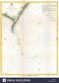 U S Coast Survey Chart Or Map Of The Carolina Coast Stock