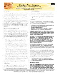 Resume Hints Crafting Your Resume Tips Hints Advice On Resume Writing In A 12