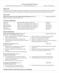 Nursing Resume Objectives Nursing Student Resume Template Nursing School Student Resume 46