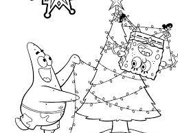 Spongebob Christmas Coloring Pages Color Bros