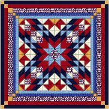Easy Quilt Kits: Amazon.com & Easy Quilt Kit Patriotic Starburst/Queen/Expedited Shipping Adamdwight.com