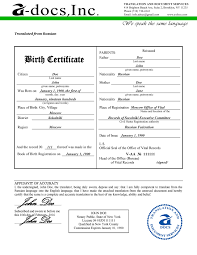 Collection Of Solutions French Birth Certificate Translation Sample
