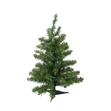 3 Ft. Pre-Lit Natural Two-Tone Pine Artificial Christmas Tree, Clear LED  Lights