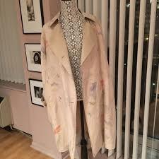 Summer Coat Design Lafayette 148 Beige Linen Summer Coat With Abstract Design Size L M Ebay