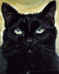 the lovely cleopatra is the model for today s black cat painting i just love the look in her eyes this pose reminds me of a much sketchier painting i did