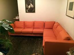 orange sofa ikea corner slipcover in lycksele bed