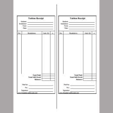 Tuition Receipt Template Education Invoice 263322585047 Fee