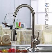 Pullout spray kitchen sink faucet