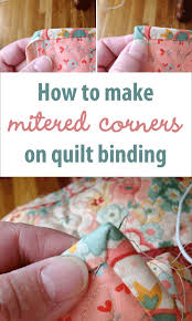 How to make mitered corners on quilt binding   Sewing   Pinterest ... & How to make mitered corners on quilt binding Adamdwight.com