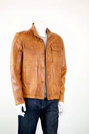 men s tan leather jacket