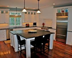 Delighful Kitchen Island Table Combination For An Eclectic Remodel In Boston With Throughout Impressive Design