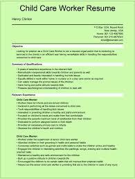 Cover Letter Child Caregiver Resume Child Care Resume Skills