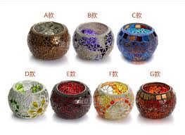 free mosaic candle holders decorative for tealight wedding centerpiece holder event party bar light home decor in candle holders from home garden