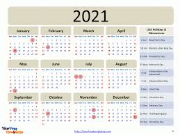 Even further personalization can be done after downloading calendar in local computer. Printable Calendar 2021 Template Free Powerpoint Template