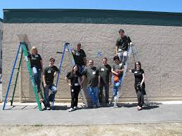 Adobe employees just completed sketching a mural at Burnett Middle School,  San Jose, California – Adobe Life
