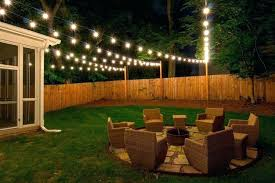 outside lighting ideas. Outdoor Lighting Backyard Yard String Lights Outside For Party Ideas A With Regarding Hanging . T
