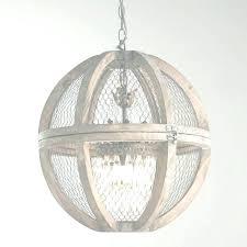 white wood chandelier globe regarding wood