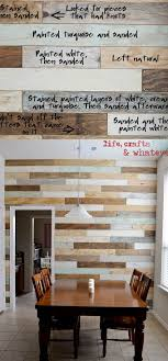 this diy plank wood wall combines the clean look of shiplap with the rustic charm of pallet wall plus a touch of weathered grey and coastal blue