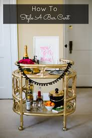 How To Decorate A Bar Cart