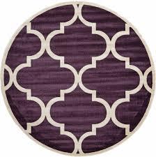 8 x 8 trellis round rug