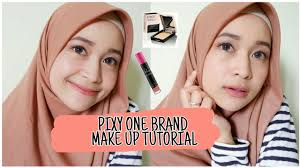 make up natural untuk pemula simpel banget pixy one brand make up tutorial