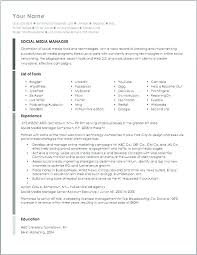 Social Media Manager Resume Skills List Collection Of Solutions ...