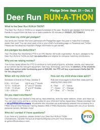 The 2018 Deer Run Run A Thon Is Here