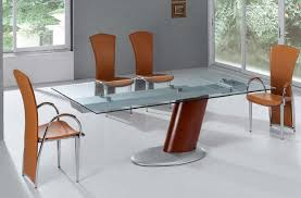 contemporary expandable dining room table