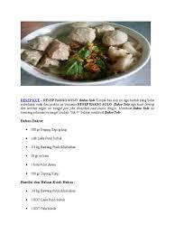 Tastemade/cara membuat kuah bakso dan resepnya. Resep Bakso Solo