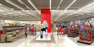 super target store front. Brilliant Store A Target Store Front Featuring A Style Display With Mannequins On Super Store Front T