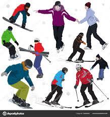 winter outdoor activities. Winter Outdoor Activities \u2014 Stock Vector
