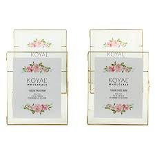 koyal whole pressed glass floating photo frames 4 pack with stands for horizontal or vertical pictures table numbers place cards diploma frame