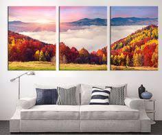 3 panel wall art mountains