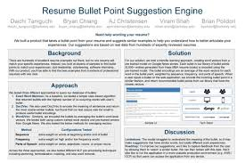 Resume Suggestion Resume Bullet Point Suggestion Engine Data X At Berkeley