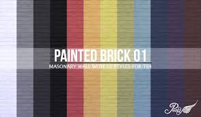 Small Picture Simsational Designs Painted Brick Wall 01 TS4 CC Pinterest