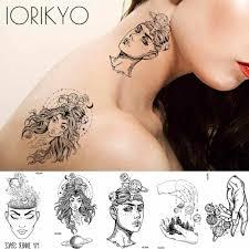 Iorikyo небольшой мудрость временные татуировки наклейки для женщин