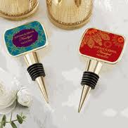 indian wedding party favors. personalized gold indian jewel bottle stopper wedding party favors a