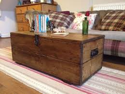 old rustic pine box vintage wooden chest coffee table toy or storage trunk chest coffee table
