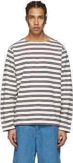acne studios ecru striped nimes t shirt men acne studios tote acne studios