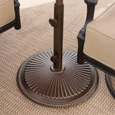 cast iron classic patio umbrella stand hayneedle
