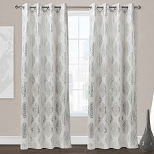 white curtain panels. Exclusive-Home-Augustus-Grommet-Top-Curtain-Panel-Pair- White Curtain Panels